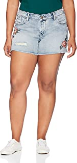 Silver Jeans Co. Women's Plus Size Aiko Fit Mid Rise Shorts