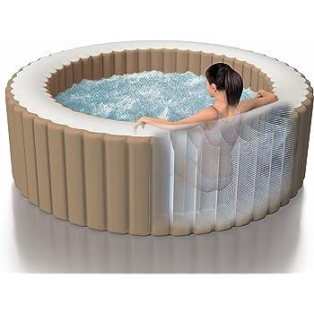 Intex Whirlpool Pure SPA Bubble Massage - Ø 196 cm x 71 cm, für 4 Personen, Fassungsvermögen 795 l, beige, 28426