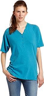 Dickies Women's Short Sleeve Solid Henley