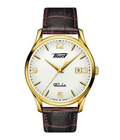 Tissot Heritage Visodate T1184103627700 (Brown/Gold) Watches