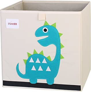 Caja Organizador Juguete plegable lona cubo Almacenamiento Dibujos Animados para Niños por ELLEMOI (Dinosaurio)
