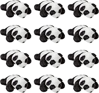 Wildlife Tree 12 Pack Panda Mini 4 Inch Small Stuffed Animals, Bulk Bundle Zoo Animal Toys, Jungle Safari Party Favors for Kids