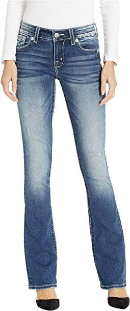 Wing Bootcut Jeans in Medium Blue