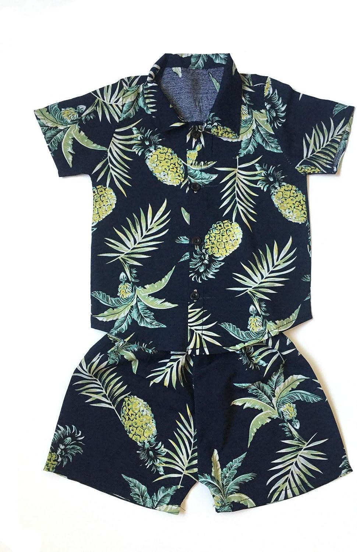 Little Kid Toddler Boy Summer Outfit Set Shortsleeve Shirt and Short (2T-3T)