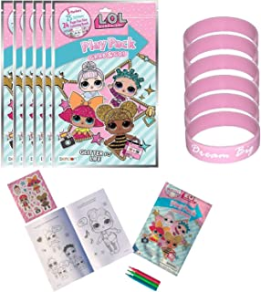 Set of 8 LOL Surprise Birthday Party Supplies Grab & Go Play Pack Coloring Books Play Fun Favors for Girls with Markers Stickers & 8 Bracelets (8 Pack)