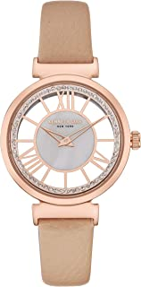 Kenneth Cole Women's Mother of Pearl Dial Leather Band Watch - KC50189003