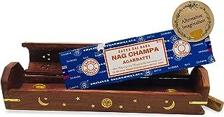 Alternative Imagination 100 Gram Nag Champa with Celestial Coffin Incense Holder Box