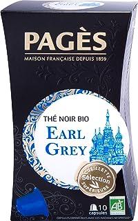 Pagès Thé Noir Earl Grey Bio - 10 Capsules Compatibles Avec Les Machines Nespresso - Lot De 3