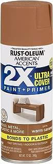 Rust-Oleum 327924-6 PK American Accents Spray Paint, Satin Warm Carmel