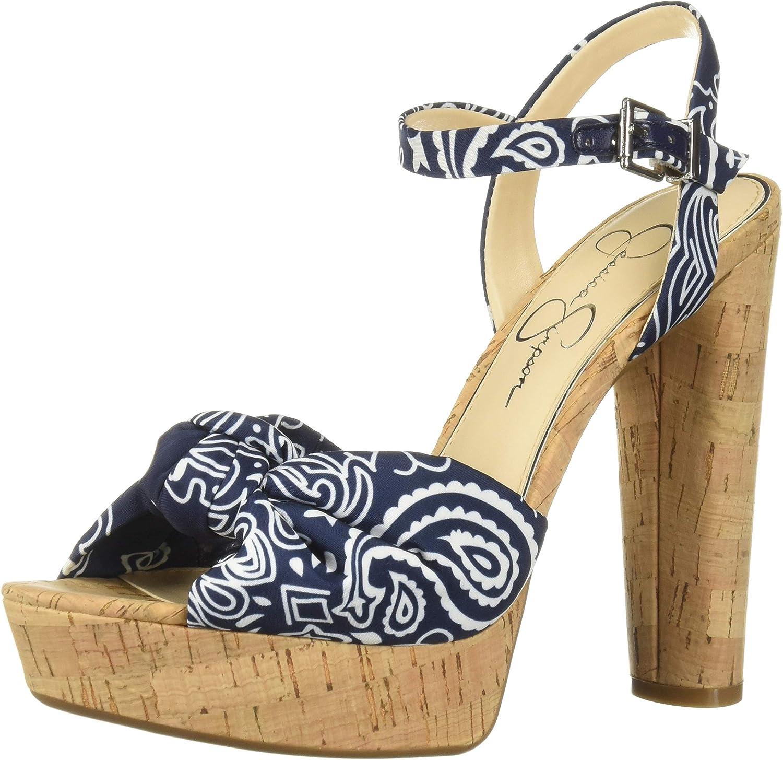 Jessica Simpson Womens Ivrey Heeled Sandal
