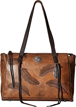 American West Sacred Bird Zip Top Tote w/ Secret Compartment