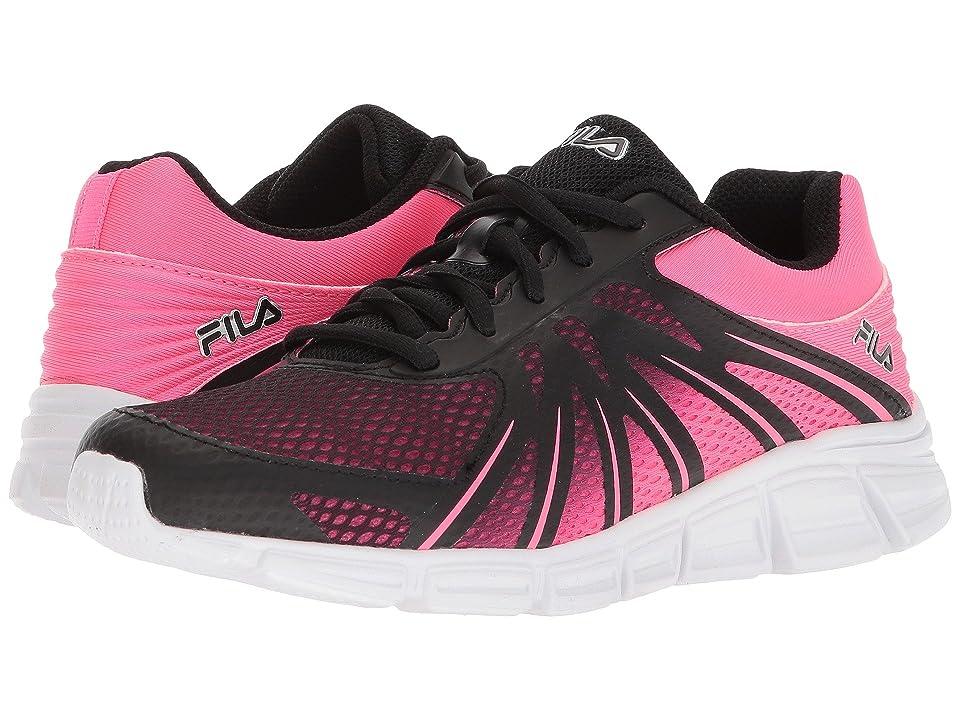 Fila Memory Fraction Running (Black/Knockout Pink/Metallic Silver) Women