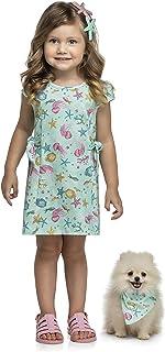 Vestido com estampa do mar, Menina, Kely Kety