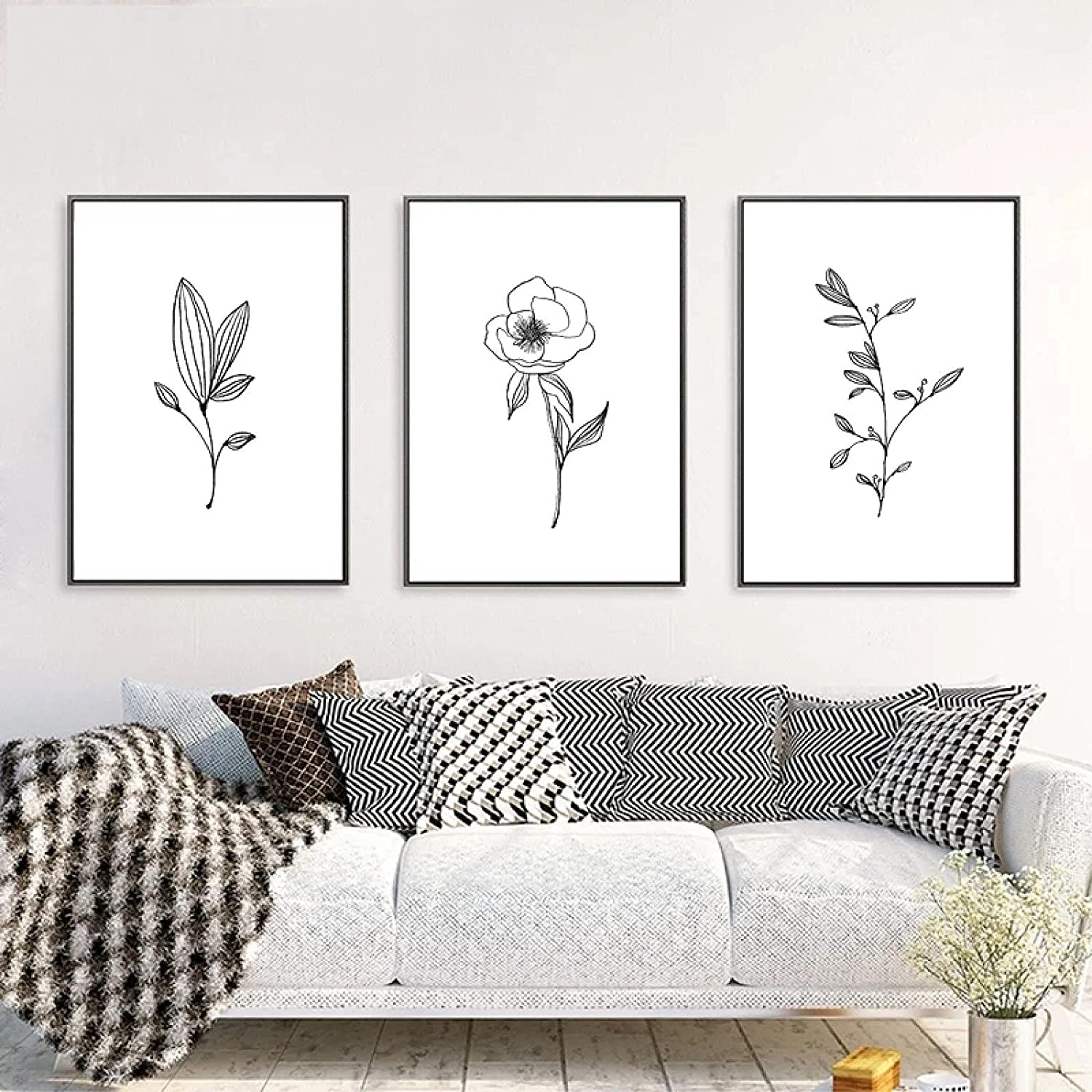 Giclee Minimalist OFFicial Decor Minimal Product Wall Pencil Leaf Drawings Art C