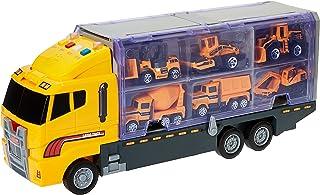 Mumoo Bear Die Cast Emergency Trucks Vehicles Toy Cars Play Set in Carrier Truck 7 in 1 Transport Truck Emergency Car Set ...