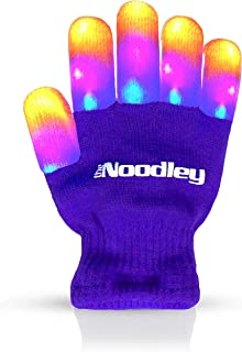 The Noodley Children LED Finger Light Gloves Boys Girls & Kids Gifts Game and Toy (Purple, Small)