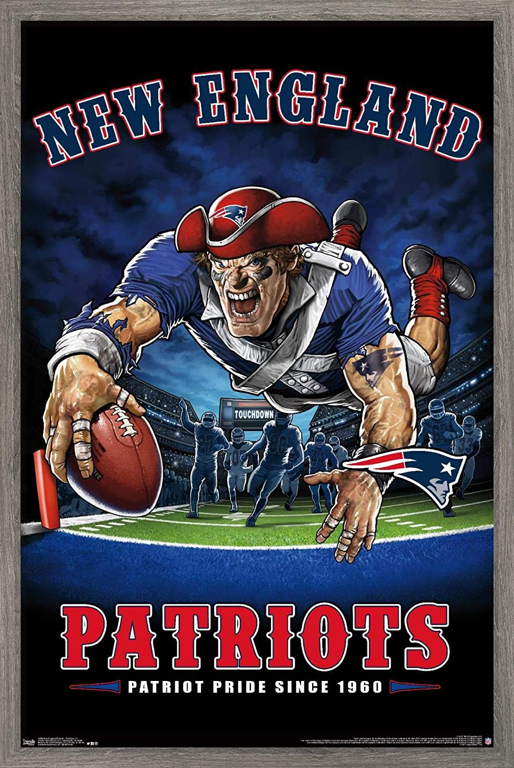 Trends International NFL New England Patriots - End Zone 17 Wall Poster, 22.375