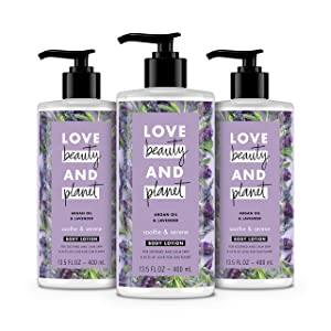 Love Beauty And Planet Body Lotion Argan Oil and Lavender 13.5 oz, 3 Count