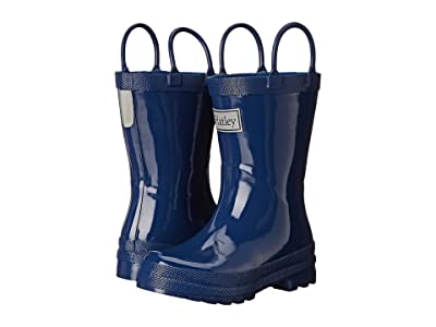 Hatley Kids Solid Handled Rain Boot (Toddler/Little Kid) (Navy) Boys Shoes