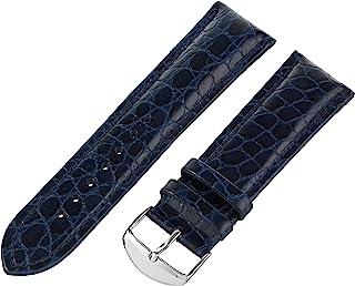 Hadley-Roma Men`s MSM907RA-200 20-mm Black Genuine Leather Watch Strap