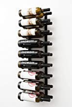 VintageView Wall Series - 18 Bottle Wall Mounted Wine Rack (Satin Black) Stylish Modern Wine Storage with Label Forward De...