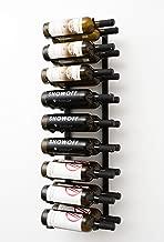 18 bottle wall mounted wine rack