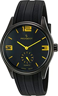 Peugeot Men's 2042OBK Analog Display Japanese Quartz Orange Watch