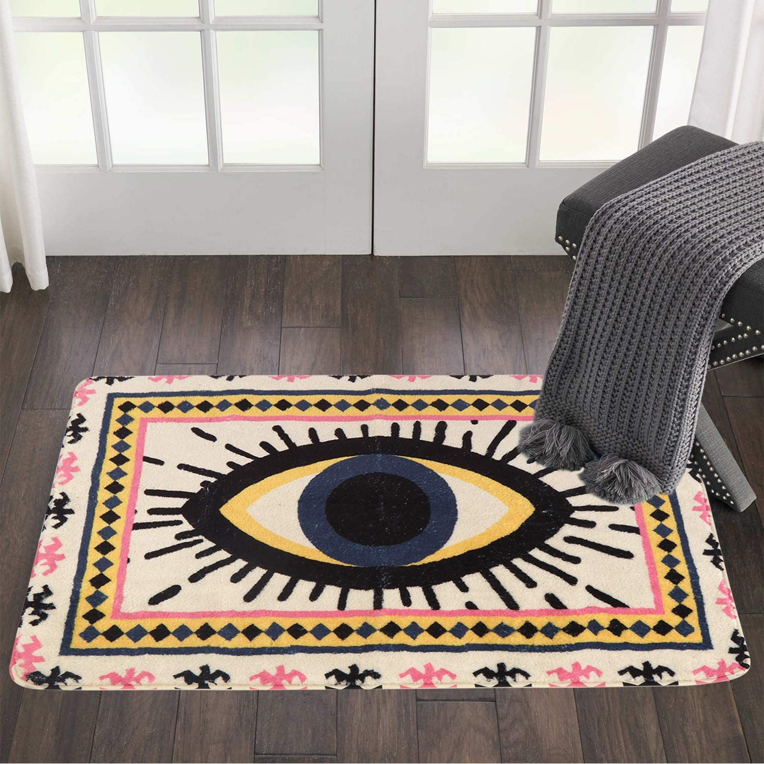 HAOCOO Evil Eye Popular brand in the world Area Ranking TOP10 Rugs Style Tribal 2'x3' Non-Slip