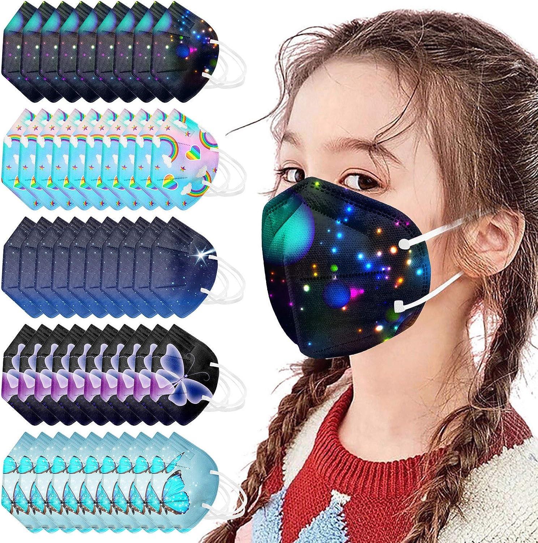50Pcs Kids Disposable_Face_Masks 3 4 3D Layer Popular Desig 5 Protective Cheap super special price