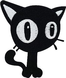 be45 Katzen Kopf Aufnäher Applikation Bügelbild Patch Kinder DIY Cat Tiere Comic