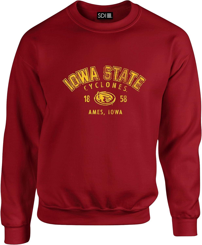 NCAA Iowa State Cyclones Unisex 50 50 Blended 8 oz. Crewneck Sweatshirt, Cardinal, Large