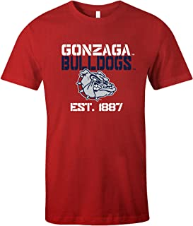 NCAA Gonzaga Bulldogs Est Stack Jersey Short Sleeve T-Shirt, Red,Large