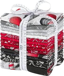 Winter's Grandeur 7 Scarlet 14 Fat Quarters 1 Panel Robert Kaufman Fabrics FQ-1502-15