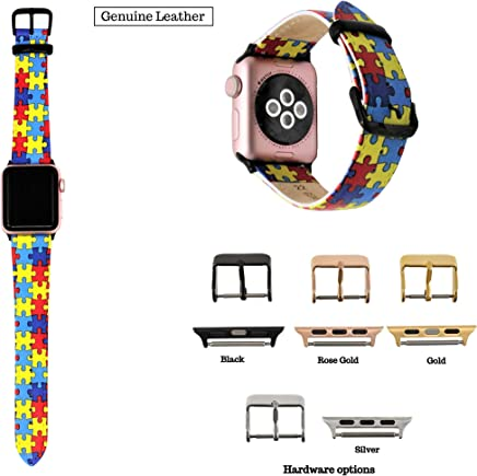 Autism Awareness Band Compatible with Apple Watch 38mm, 40mm, 42mm, 44mm, Autism Awareness, Autism Gift, Autism Puzzle, Ships same day if order placed by 12pm PST
