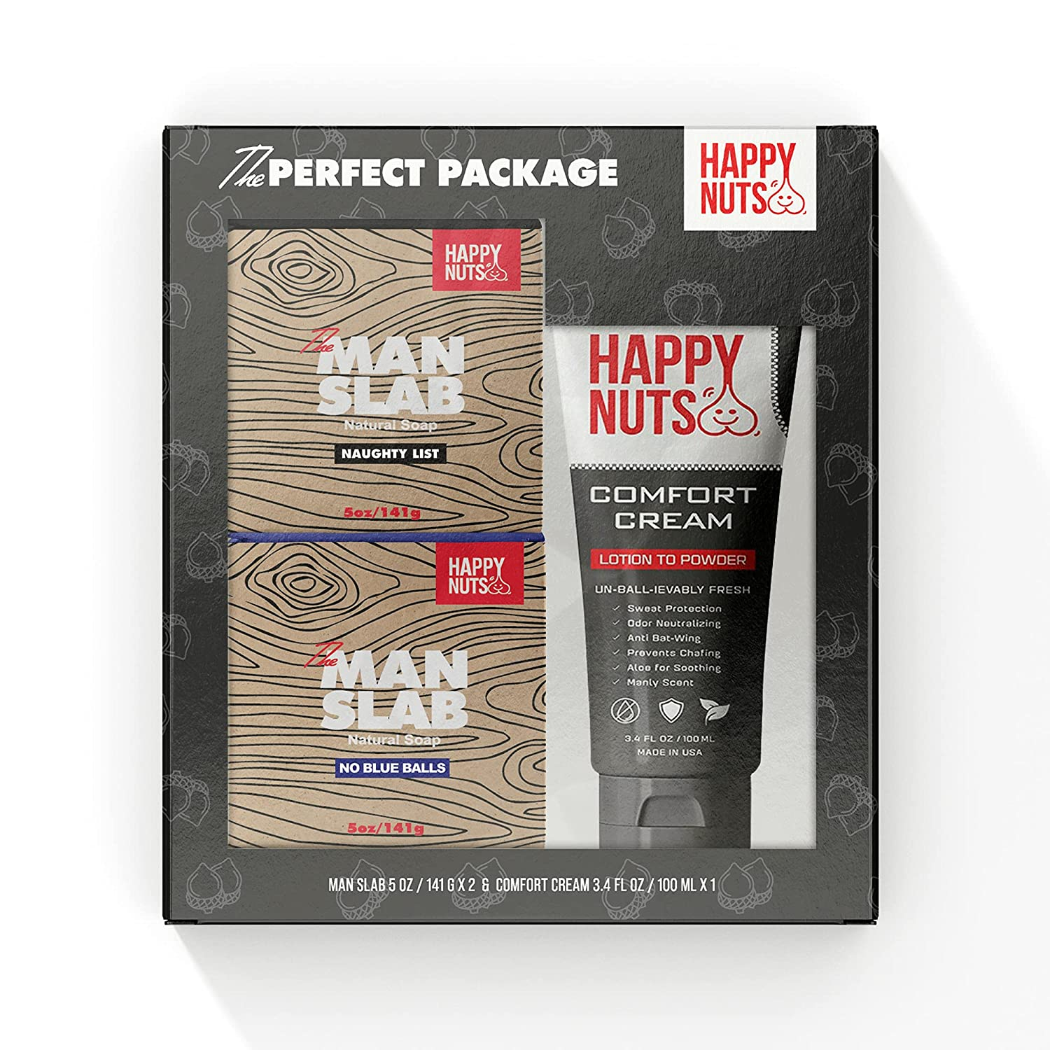 Happy Nuts Perfect Package Set Contains Comfort Sl Lowest price challenge Direct stock discount Man Cream and