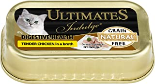 Ultimates Cat Pet Food Indulgence Digestive Health Tender Chicken in Broth, 80 x 85g, 80 Piece