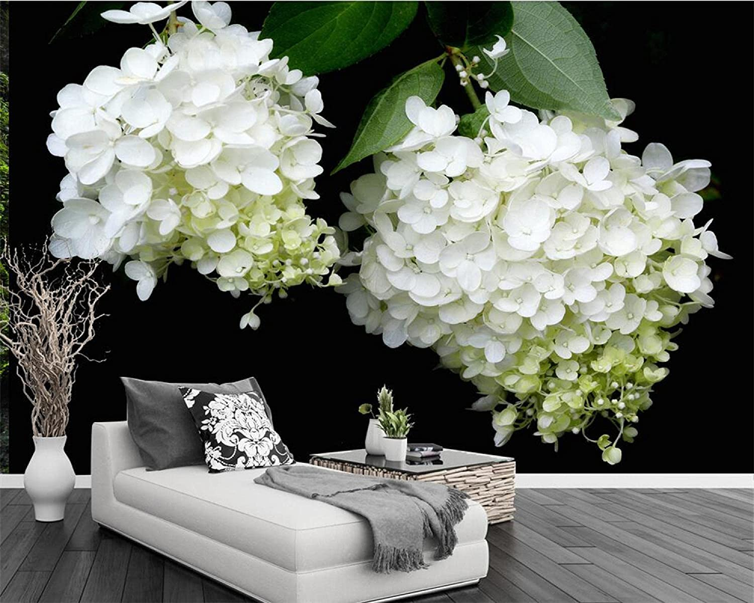 LUOWAN Milwaukee Mall Creative 3D Wall Decals Fashion Removable Challenge the lowest price of Japan ☆ Plant White DIY
