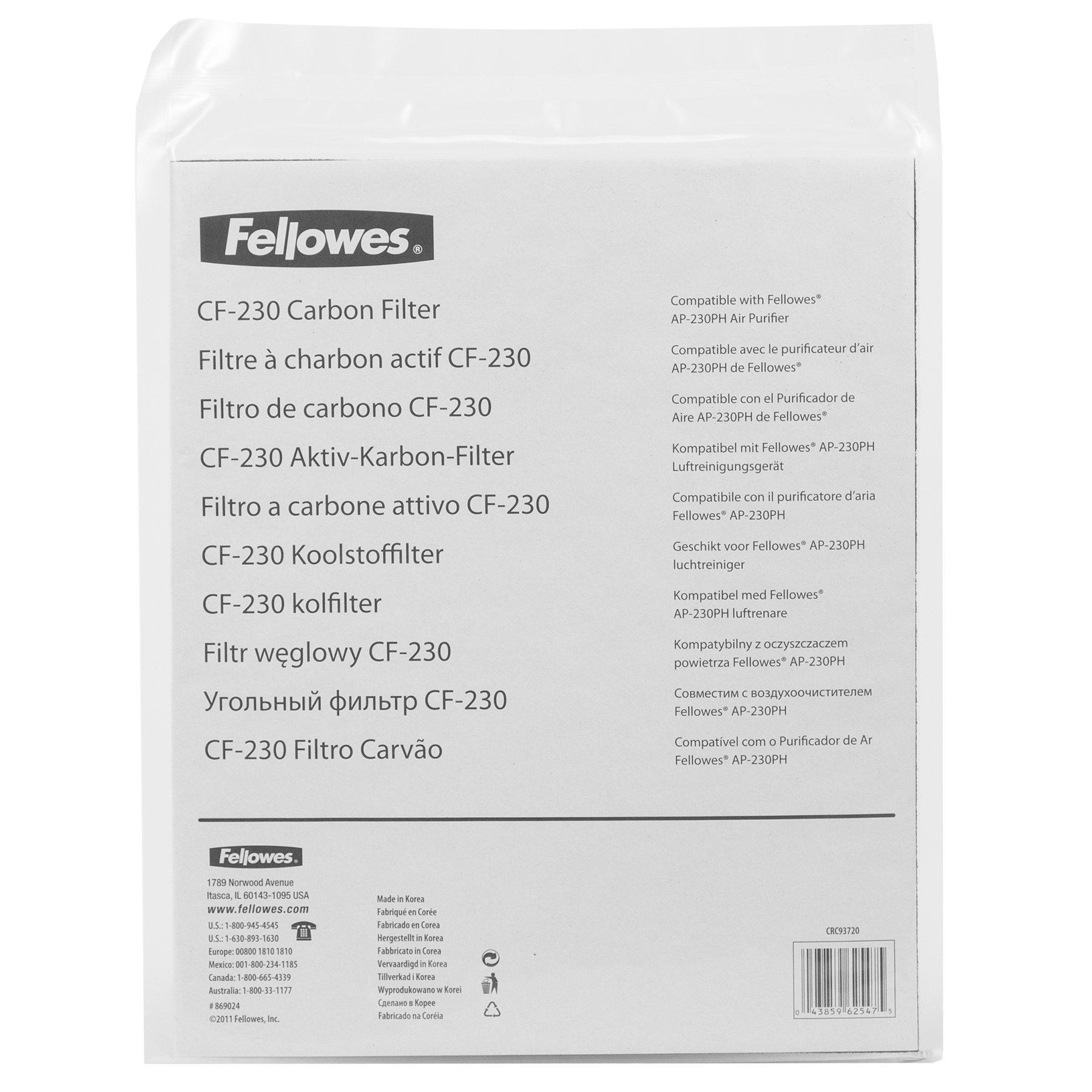 Fellowes 9372001 - Filtro de carbón para purificador de Aire 230 ...