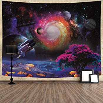 Galaxy Planet Tapestry Wall Hanging Tapestry Psychedelic Bedroom Home Decoration