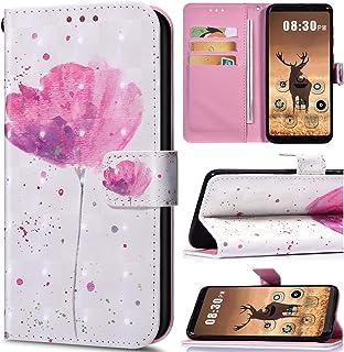 Saceebe kompatibel med Huawei P20 lite fodral läder flip fodral läder PU flip fodral plånbok 3D-målning läderfodral med sn...