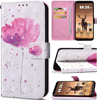 Saceebe Compatible Samsung Galaxy Note flower pink