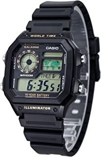 Casio Men's Digital Dial Resin Band Watch - AE-1200WH-1BV