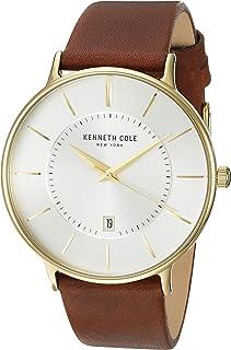 ساعة كينيث كول نيويورك للرجال بسوار ستانلس ستيل مع جلد - KC15097004