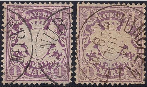 Goldhahn Bayern Nr. 31a+b gestempelt Briefmarken für Sammler