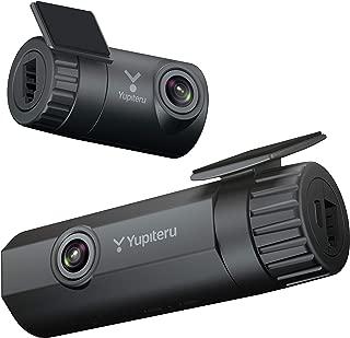ユピテル 前後2カメラ ドライブレコーダー DRY-TW9100d WiFi機能 前後200万画素 Full HD ノイズ対策済 リアカメラ夜間画像補正 LED信号対応 専用microSD(16GB) GPS Gセンサー(衝撃録画) 駐車監視機能メーカー1年保証付