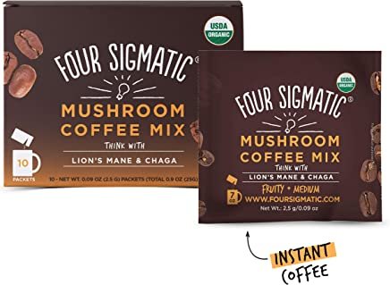 Four Sigmatic - Mushroom Coffee Mix with Lion's Mane & Chaga - 10 Packet(s)