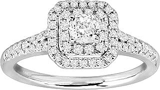 5/8 ct Diamond Engagement Ring in Rhodium-Plated 14K White Gold