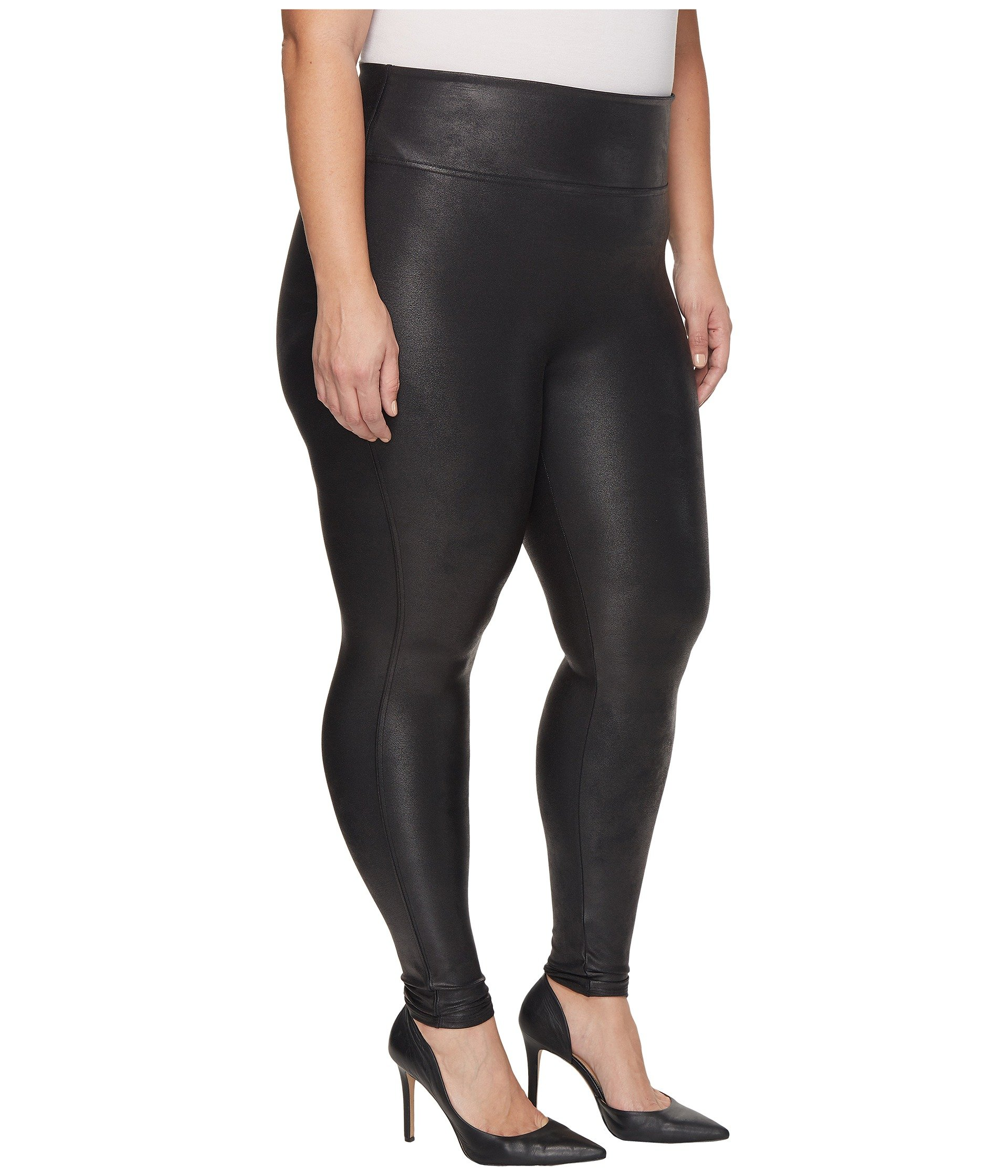 Spanx Plus Size Faux Leather Leggings At Zappos Com