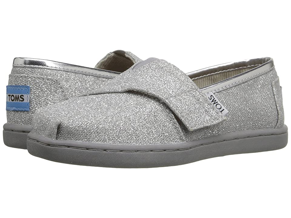 TOMS Kids Seasonal Classics (Infant/Toddler/Little Kid) (Silver Glimmer) Kids Shoes