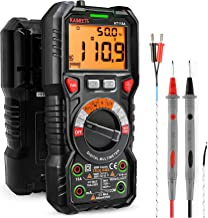 KAIWEETS Digital Multimeter TRMS 6000 Counts Ohmmeter Auto-Ranging Fast Accurately Measures Voltage Current Amp Resistance...